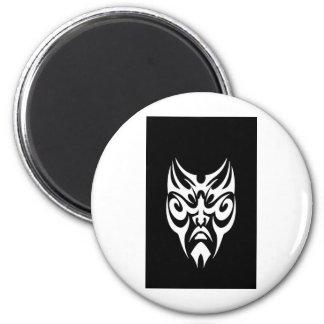 iPhone Cover White Tribal Face Tattoo Magnet