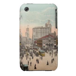 Iphone cuadrado de la postal del vintage de New iPhone 3 Case-Mate Protector