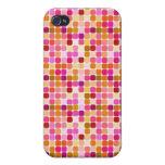 Iphone cuadrado rosado de la cubierta del caso del iPhone 4 carcasas