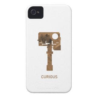 iPhone curioso - blanco iPhone 4 Carcasas