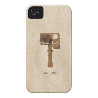 iPhone curioso - Brown Case-Mate iPhone 4 Carcasa