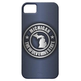 """iPhone de acero de """"Michigan"""" 5 casos (azules) iPhone 5 Funda"""