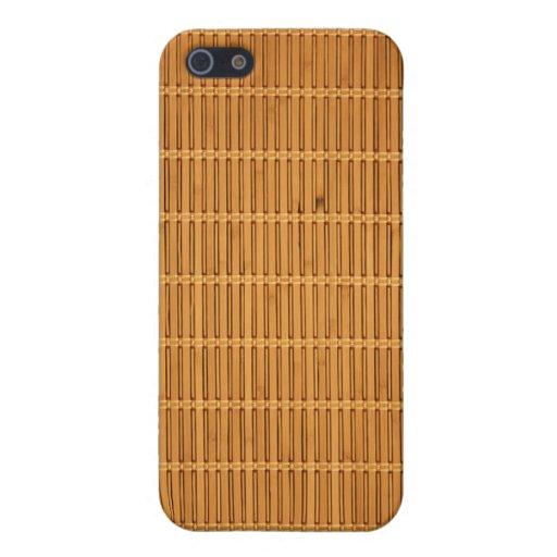Iphone de bambú 4 de la cubierta del caso de la te iPhone 5 funda