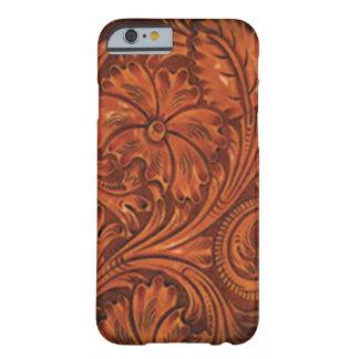 iphone de cuero equipado floral del estilo funda de iPhone 6 barely there