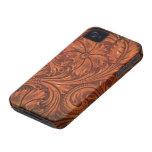 iphone de cuero equipado floral del estilo iPhone 4 Case-Mate funda