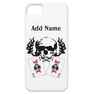iPhone de encargo de los cráneos del póker 5 casos iPhone 5 Fundas