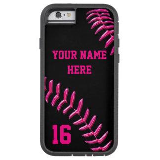 iPhone de encargo del softball 6 casos con SU Funda De iPhone 6 Tough Xtreme