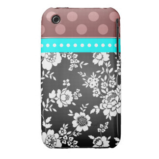 iPhone de Girlie del damasco 4 puntos del caso Case-Mate iPhone 3 Protectores