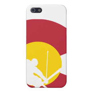 iPhone de la bandera de Colorado - esquiador - cru iPhone 5 Funda