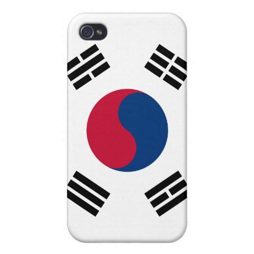 iPhone de la bandera de la Corea del Sur iPhone 4 Fundas