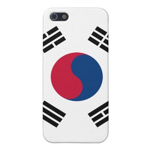 iPhone de la bandera de la Corea del Sur iPhone 5 Carcasas