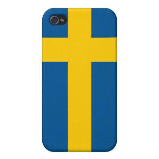 iPhone de la bandera de Suecia iPhone 4 Protector