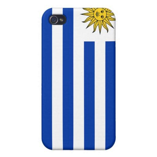 iPhone de la bandera de Uruguay iPhone 4 Carcasas
