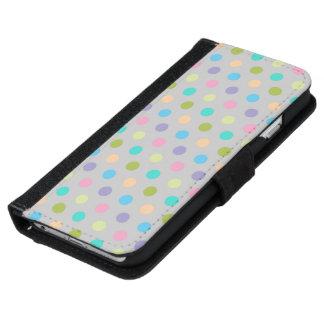 iPhone de la caja de la cartera 6 lunares Carcasa De iPhone 6