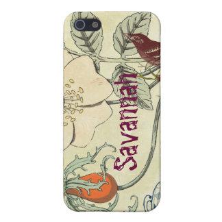 iPhone de la flor del pájaro de la mariposa de la  iPhone 5 Protector