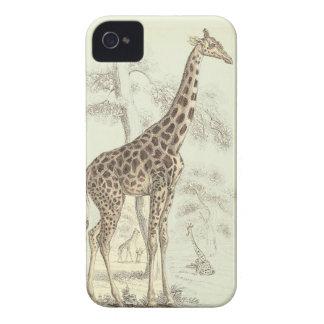 iphone de la jirafa del vintage iPhone 4 funda
