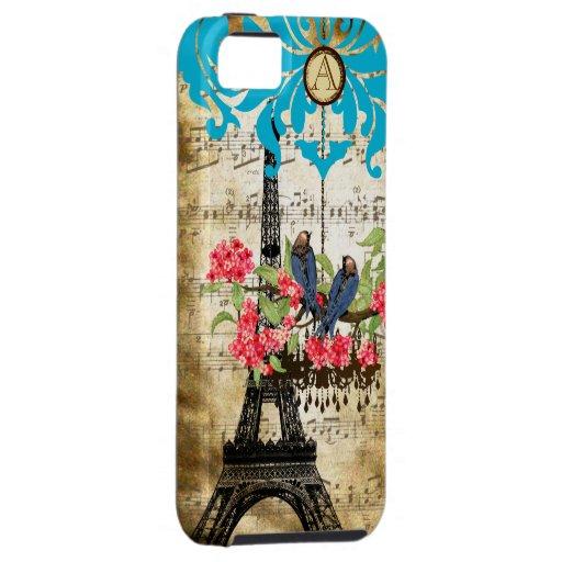 iPhone de la lámpara del pájaro de la flor de iPhone 5 Case-Mate Carcasa