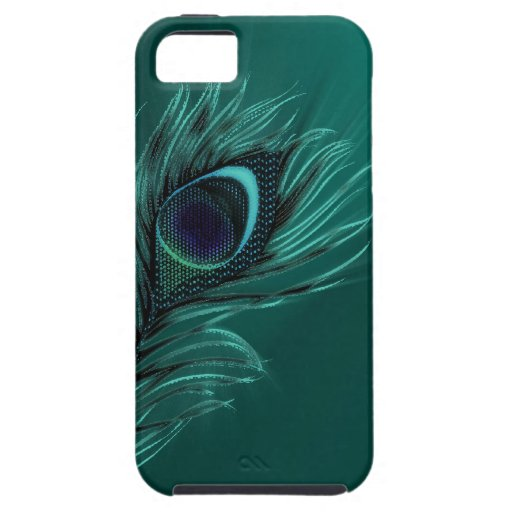 iPhone de la pluma del pavo real 5 casos iPhone 5 Coberturas