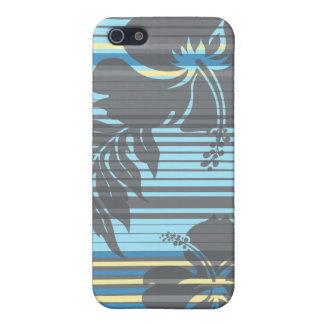 iPhone de la raya del hibisco de Lihue 5 casos iPhone 5 Protector