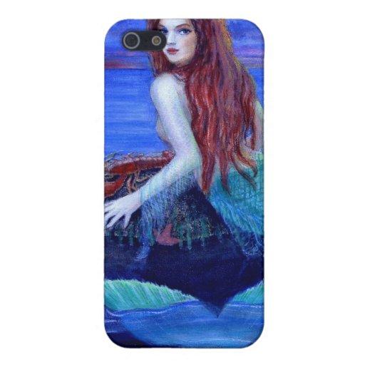 Iphone de la sirena del arte de la fantasía 4 caso iPhone 5 carcasa