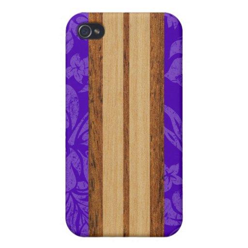 iPhone de la tabla hawaiana de la playa de la pues iPhone 4 Carcasa