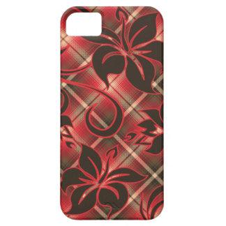iPhone de la tela escocesa del hibisco de Mauna Lo iPhone 5 Cobertura