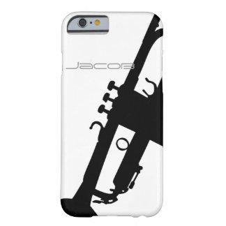 iPhone de la trompeta 6 case 5S con nombre de