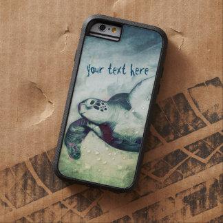 iPhone de las tortugas de mar verde que vuela el   Funda De iPhone 6 Tough Xtreme