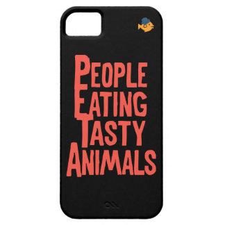 iPhone de los animales de la consumición de Funda Para iPhone 5 Barely There