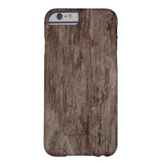 iPhone de madera 6/6s de la corteza de Brown Funda Para iPhone 6 Barely There