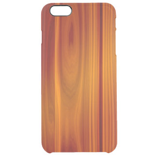 iPhone de madera 6/6S de la teca más el caso claro Funda Clear Para iPhone 6 Plus
