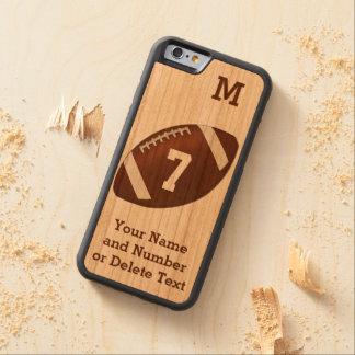 iPhone de madera 6 cajas del fútbol PERSONALIZADAS Funda De iPhone 6 Bumper Cerezo