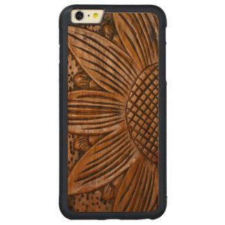 iPhone de madera de Carved® del girasol de madera