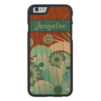 iPhone de madera de Carved® del hibisco floral Funda De iPhone 6 Carved® De Cerezo