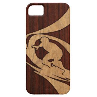 iPhone de madera de la persona que practica surf h iPhone 5 Case-Mate Funda