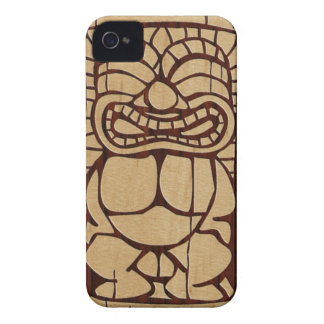 iPhone de madera de la tabla hawaiana de Koa Tiki Carcasa Para iPhone 4