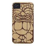 iPhone de madera de la tabla hawaiana de Koa Tiki  iPhone 4 Carcasa