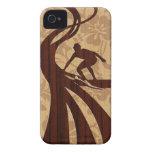 iPhone de madera de la tabla hawaiana de la iPhone 4 Case-Mate Carcasa