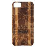 iPhone de madera de la tabla hawaiana de la playa