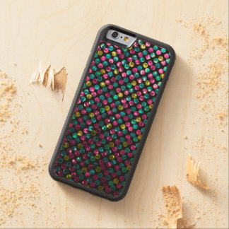 iPhone de madera del caso 6 joyas de la chispa de Funda De iPhone 6 Bumper Arce