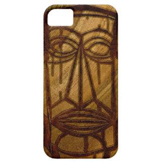 iPhone de madera hawaiano de Hapalua Tiki falso Ko iPhone 5 Cárcasa