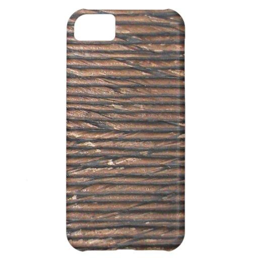 Iphone de madera natural de la mirada