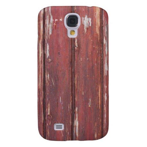 iPhone de madera rojo 3G/3GS del caso de la mirada Funda Para Galaxy S4