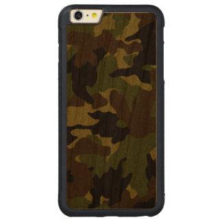iPhone de madera verde áspero del grano de Camo 6