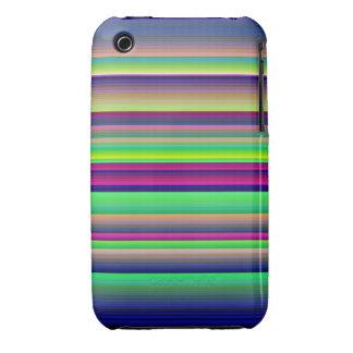 iPhone de neón 3G/3Gs del arco iris de las rayas h Case-Mate iPhone 3 Carcasa
