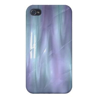iPhone de seda líquido azul claro y púrpura 4 del  iPhone 4 Carcasas