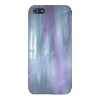 iPhone de seda líquido azul claro y púrpura del ef iPhone 5 Cárcasas