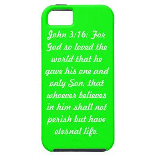 iPhone de Tough™ de la casamata del verde del 3:16 iPhone 5 Cobertura