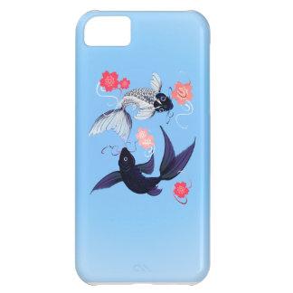 iPhone de Yin y de Yang Koi 5 casos Funda Para iPhone 5C