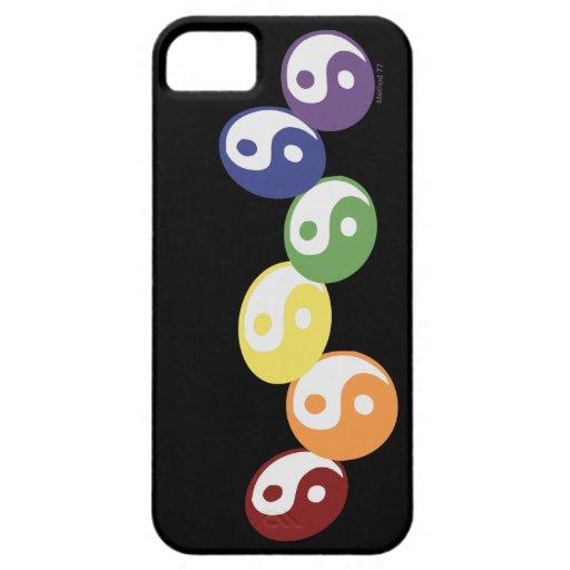iPhone de Ying Yang del arco iris 5 casos iPhone 5 Carcasas